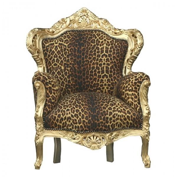 casa padrino barock sessel leopard gold thron tron wohnzimmer m bel ebay. Black Bedroom Furniture Sets. Home Design Ideas