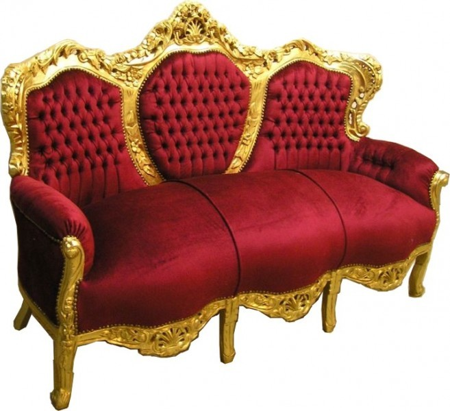 barock sofa casa padrino bordeaux gold wohnzimmer m bel couch lounge ebay. Black Bedroom Furniture Sets. Home Design Ideas