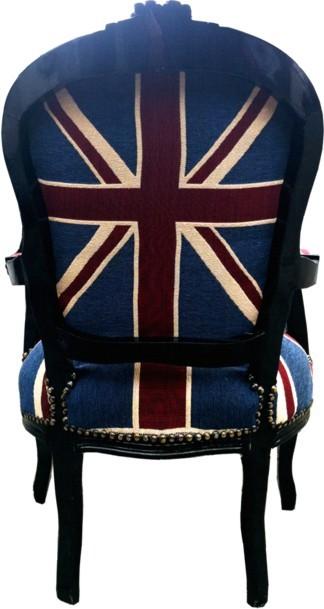 Barock salon stuhl union jack schwarz m bel antik stil for Sessel union jack