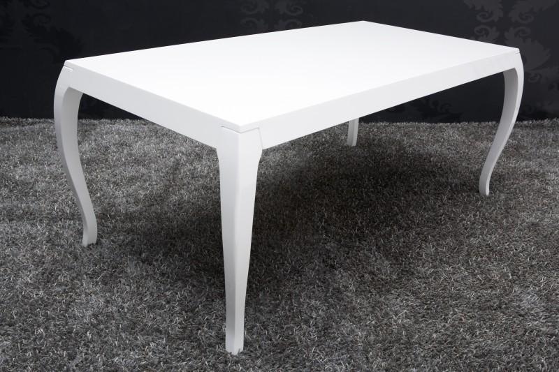Barock esstisch hochglanz wei 200cm esszimmer tisch for Barock esstisch