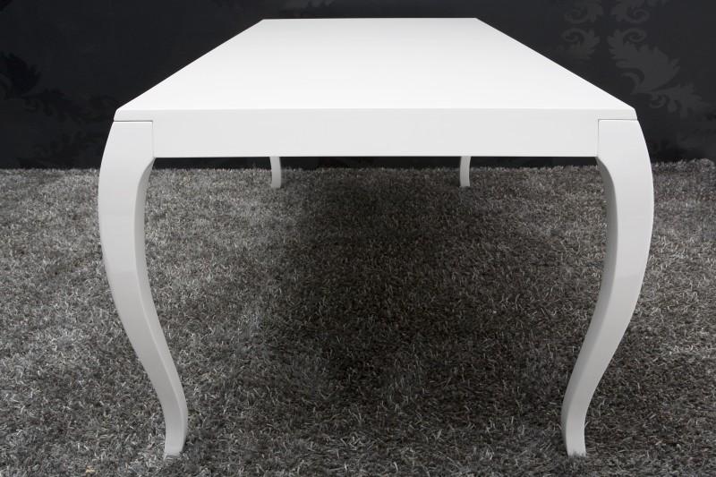 Esstisch Barock Weiß ~ Barock Esstisch Hochglanz Weiß 200cm  Esszimmer Tisch Möbel  eBay