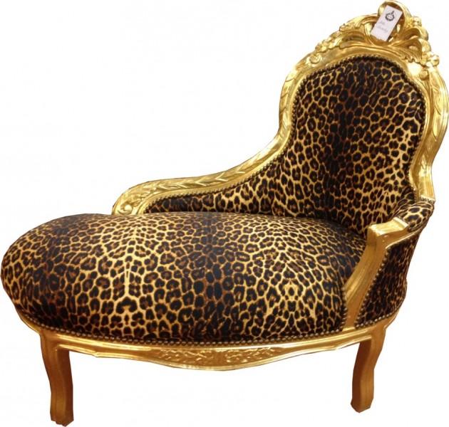 barock kinder chaiselongue leopard gold tron barock m bel recamiere ebay. Black Bedroom Furniture Sets. Home Design Ideas