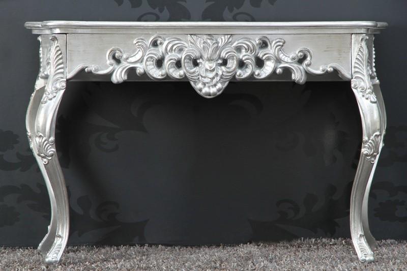 barock konsolentisch silber damen schreibtisch. Black Bedroom Furniture Sets. Home Design Ideas
