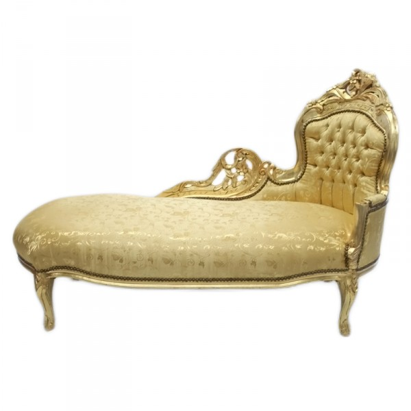 casa padrino barock chaiselongue king gold muster gold m bel antik stil ebay. Black Bedroom Furniture Sets. Home Design Ideas