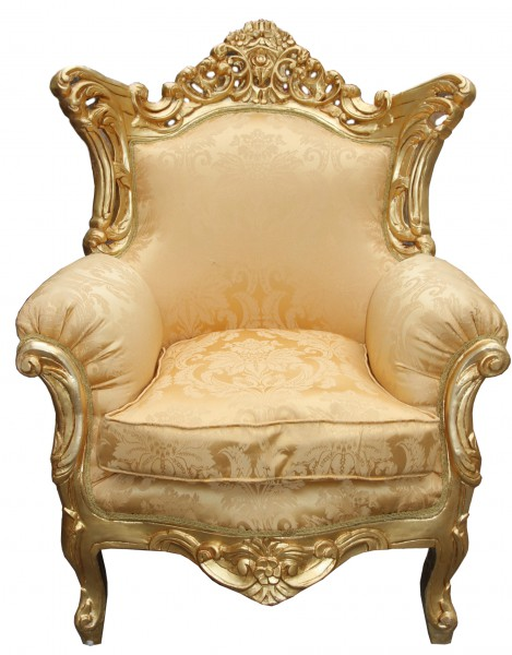 casa padrino barock sessel al capone mod 2 gold blumen muster gold m bel ant ebay. Black Bedroom Furniture Sets. Home Design Ideas