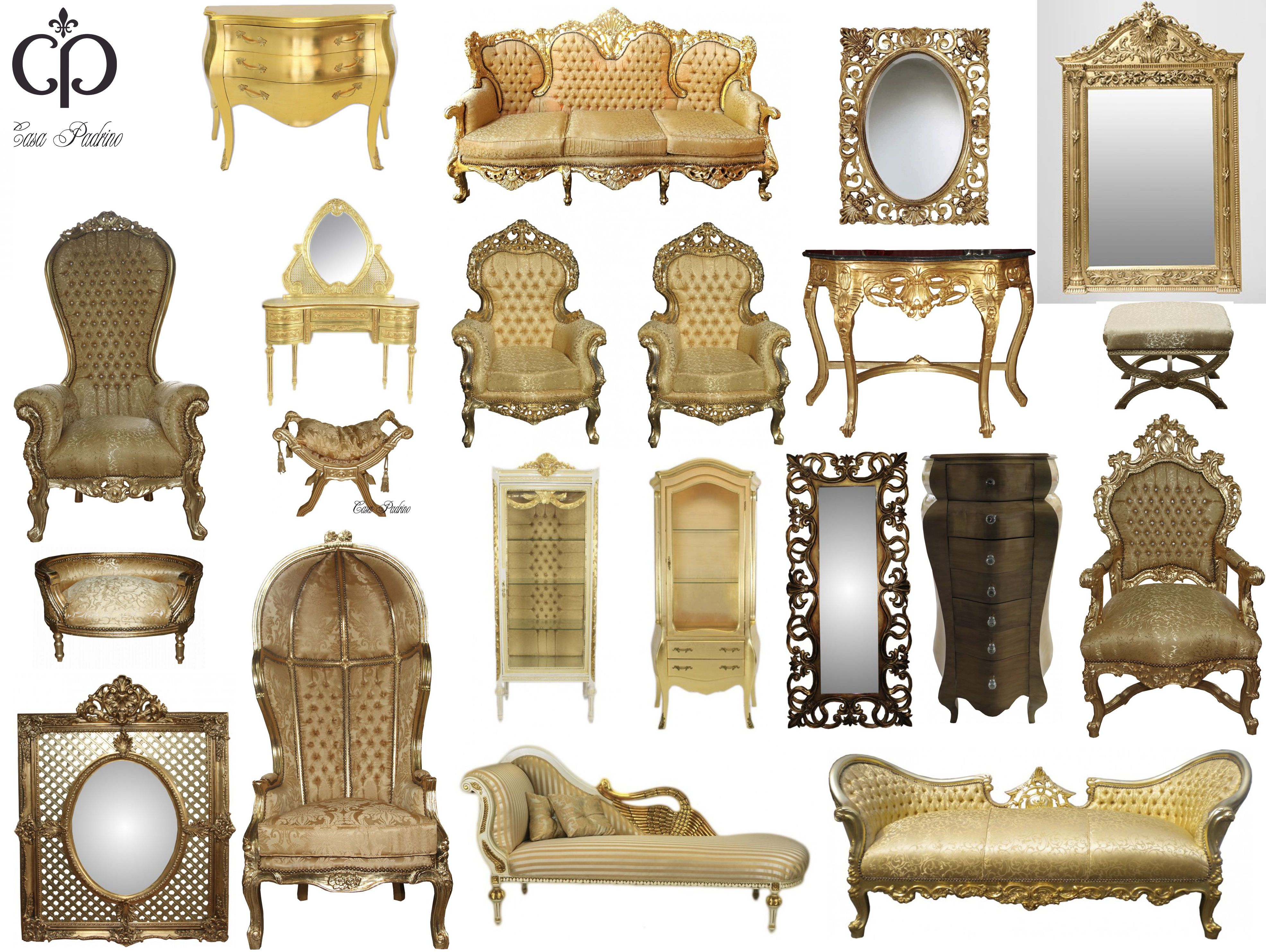 gold gold barock luxus m bel casa padrino edel. Black Bedroom Furniture Sets. Home Design Ideas