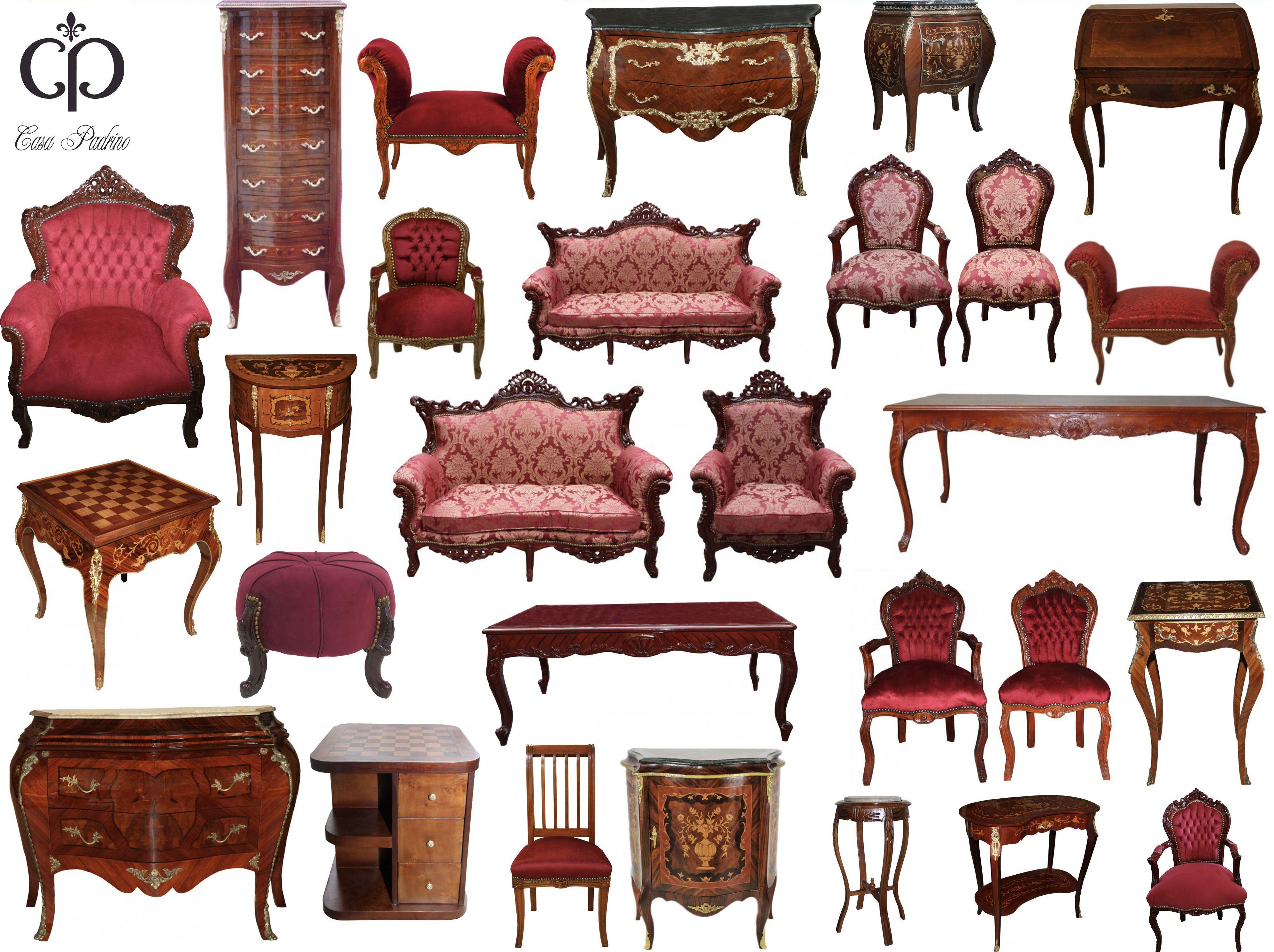 barock luxus möbel, bordeaux, braun, designer möbel, sessel, sofa, tische, Kollektion