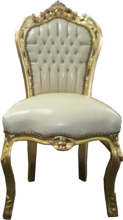 casa padrino barock esszimmer stuhl creme gold m bel ebay. Black Bedroom Furniture Sets. Home Design Ideas