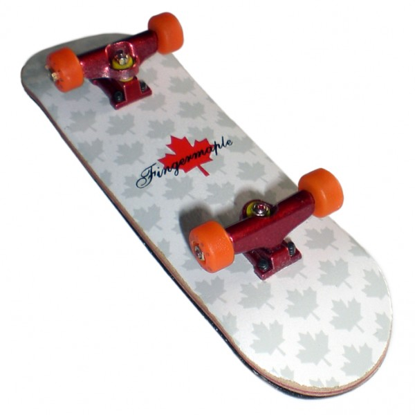 Profi Fingerboard Komplettboard aus Holz Orange/Red - Made in USA - Luxury Edition - Absolutes Profi Fingerb