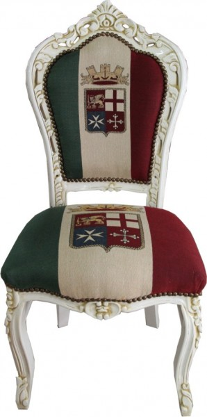 casa padrino barock esszimmer stuhl italien creme antik stil antik m bel ebay. Black Bedroom Furniture Sets. Home Design Ideas