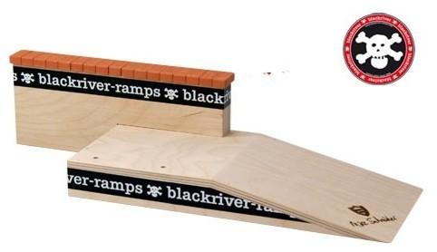 Fingerboard Ramp Mike Schneider III Brick Ledge - Black River Holz Rampe Blackriver Ramps