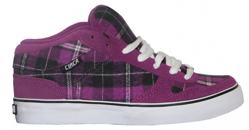 Skateboard Schuhe 8 Track Purple/White/ Black Plaid Sneakers Shoes